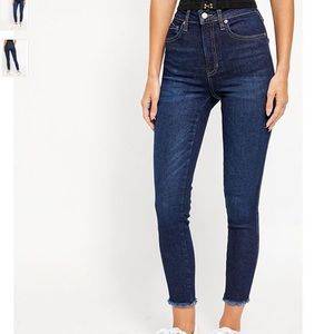 NWT Free People Raw Hem High Rise Jegging Jeans